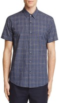 Theory Zack S Check Slim Fit Button-Down Shirt