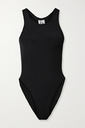 Hunza G Nile Iris Ribbed Swimsuit - Black