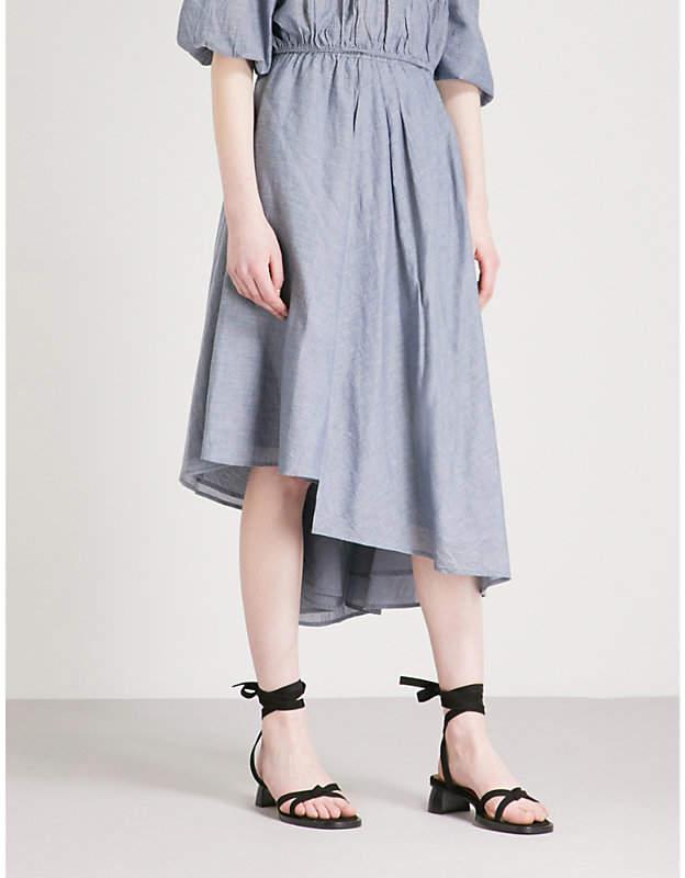Apiece Apart Turkanna asymmetric cotton midi skirt