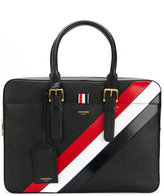 Thom Browne striped briefcase