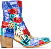 Rocco P. patchwork boots - women - Leather/Patent Leather - 37