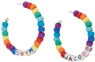 Marc Jacobs Toy Blocks beaded hoop earrings
