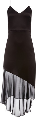 Alice + Olivia Felipa Asymmetrical Slip Dress