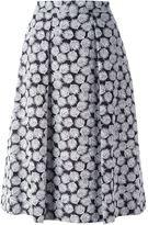 MICHAEL Michael Kors leaf print A-line skirt - women - Cotton/Polyester/Spandex/Elastane - 4