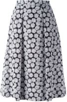 MICHAEL Michael Kors leaf print A-line skirt