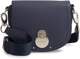 Longchamp Small Cavalcade Lambskin Leather Saddle Bag