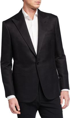 Ralph Lauren Purple Label Men's Tonal Glen Plaid Single-Button Jacket