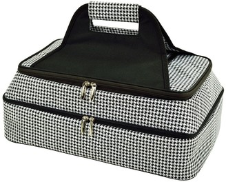Picnic at Ascot Two-Layer Thermal Food Carrier- Houndstooth