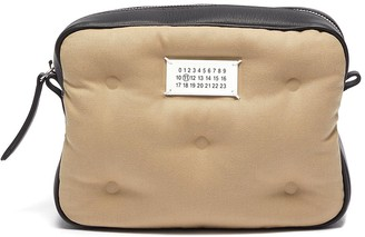 Maison Margiela Glam slam box canvas leather small crossbody bag