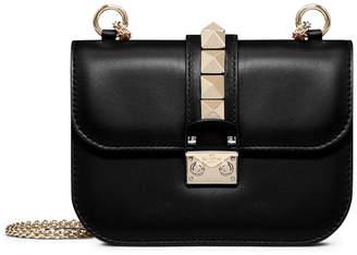 Valentino Lock Shoulder Bag Small Black
