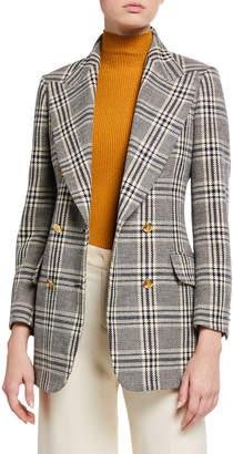 Gucci Checked Wool Plaid Blazer