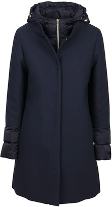 Herno Blue Cotton Coat