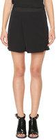 Carven Fluid Chiffon Shorts, Black
