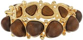 Kenneth Jay Lane Gold with Dark Wood Cabochons Bangle
