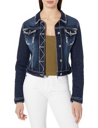 Grace in LA Women's Heavy Stitch Denim Jacket