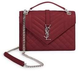 Saint Laurent Medium Tri-Quilt Leather Envelope Bag