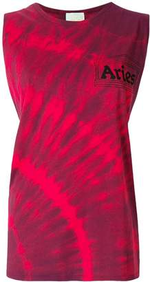 Aries bleach-effect racerback tank top