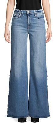 Frame Wide-Leg Tearaway Jeans