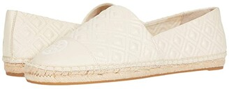 Tory Burch Quilted Flat Espadrille (New Cream/New Cream) Women's Shoes