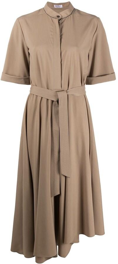 Brunello Cucinelli Tie-Waist Shirt Dress