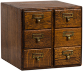 Rejuvenation Solid Oak 6-Drawer Card Catalog c1920