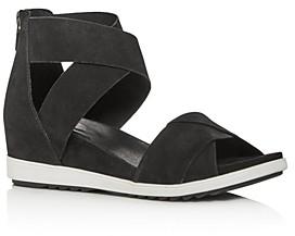 Eileen Fisher Women's Viv Criss-Cross Wedge Sandals