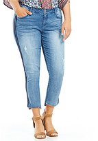 "Democracy Plus ""Ab"" Solution Double Stripe Step Hem Ankle Jean"