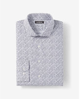 Express extra slim fit floral print cotton dress shirt