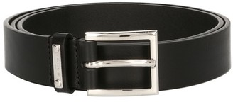 Givenchy Silver leather classic belt