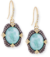 Armenta Old World Midnight Oval Crivelli Earrings with Diamonds