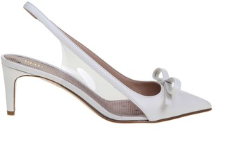 RED Valentino Slingback Leather Sandie Color Milk