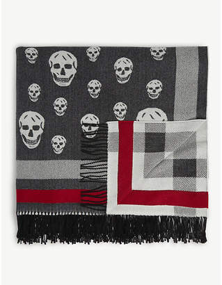 Alexander McQueen Wool and cashmere skull print scarf