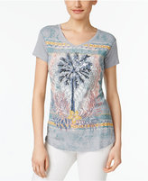 Style&Co. Style & Co Petite Embellished Graphic T-Shirt, Only at Macy's