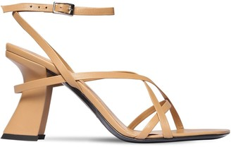 BY FAR 95mm Kersti Leather Sandals