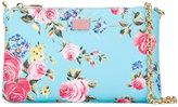 Dolce & Gabbana floral print chain clutch bag