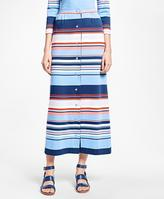 Brooks Brothers Striped Cotton Maxi Skirt
