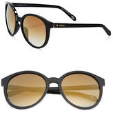 Fossil 56mm Mirrored Sunglasses