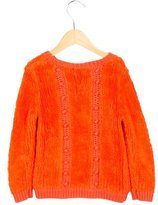 Chloé Girls' Textured Crew Neck Sweater
