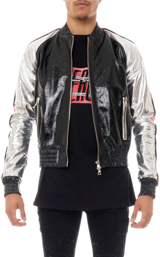 9b487985 Balmain Leather Jacket Men - ShopStyle