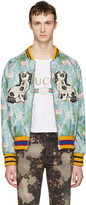 Gucci Multicolor Floral Jacquard Bomber Jacket