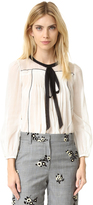 Marc Jacobs Peasant Blouse with Tie