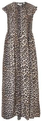 Ganni Leopard printed dress
