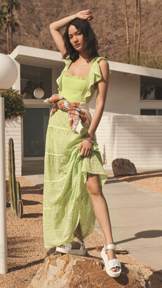 Jules Tie Back Paneled Maxi Dress
