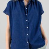 Amalfi by Rangoni Humility - Blue Denim Shirt - X Small