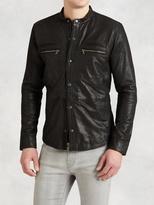 John Varvatos Goatskin Zip Shirt Jacket