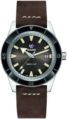 Rado HyperChrome Captain Cook Automatic Stainless Steel Suede-Strap Watch