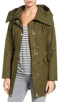 GUESS Women's Lace-Up Hooded Utility Coat