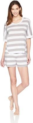 Arabella Women's Boxy Tee And Short Pajama Set