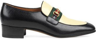 Gucci Leather moccasin with GG