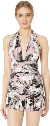 Norma Kamali Women's Ruffle Halter Mio Mini Dress